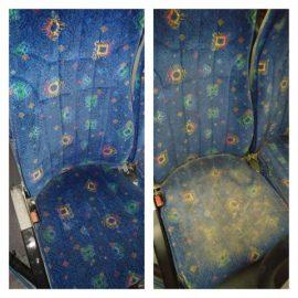 ניקוי מושבים באוטובוס