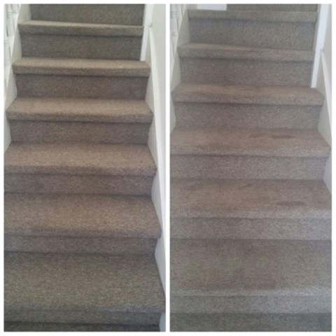 ניקוי שטיחים במדרגות